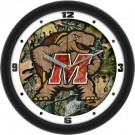 "Maryland Terrapins 12"" Camo Wall Clock"