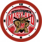 "Maryland Terrapins 12"" Dimension Wall Clock"
