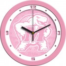 "Maryland Terrapins 12"" Pink Wall Clock"