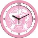 """Maryland Terrapins 12"""" Pink Wall Clock"""