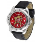 Maryland Terrapins Sport AnoChrome Men's Watch with Leather Band
