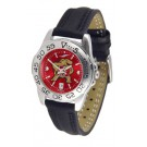 Maryland Terrapins Sport AnoChrome Ladies Watch with Leather Band