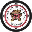 "Maryland Terrapins Traditional 12"" Wall Clock"