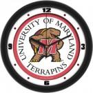 "Maryland Terrapins Traditional 12"" Wall Clock"