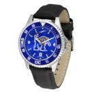 Memphis Tigers Competitor AnoChrome Men's Watch with Nylon/Leather Band and Colored Bezel by