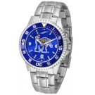 Memphis Tigers Competitor AnoChrome Men's Watch with Steel Band and Colored Bezel by