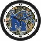 "Memphis Tigers 12"" Camo Wall Clock"
