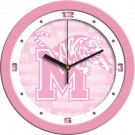 "Memphis Tigers 12"" Pink Wall Clock"