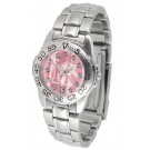 Memphis Tigers Ladies Sport Watch with Steel Band and Mother of Pearl Dial by