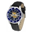 Marquette Golden Eagles Competitor AnoChrome Men's Watch with Nylon/Leather Band and Colored Bezel