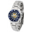 Marquette Golden Eagles Competitor AnoChrome Ladies Watch with Steel Band and Colored Bezel