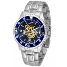 Marquette Golden Eagles Competitor AnoChrome Men's Watch with Steel Band and Colored Bezel