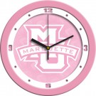 "Marquette Golden Eagles 12"" Pink Wall Clock"