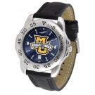 Marquette Golden Eagles Sport AnoChrome Men's Watch with Leather Band