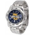 Marquette Golden Eagles Sport Steel Band Ano-Chrome Men's Watch