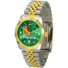 Miami Hurricanes Executive AnoChrome Men's Watch by