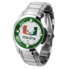 Miami Hurricanes Titan Steel Watch by