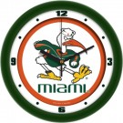 "Miami Hurricanes Traditional 12"" Wall Clock"