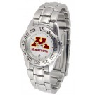 Minnesota Golden Gophers Gameday Sport Ladies' Watch with a Metal Band
