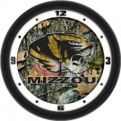 "Missouri Tigers 12"" Camo Wall Clock"