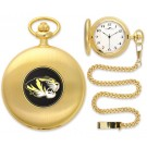 Missouri Tigers Gold Pocket Watch