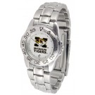 Missouri Tigers Gameday Sport Ladies' Watch with a Metal Band