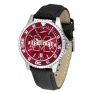 Mississippi State Bulldogs Competitor AnoChrome Men's Watch with Nylon/Leather Band and Colored Bezel