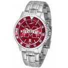 Mississippi State Bulldogs Competitor AnoChrome Men's Watch with Steel Band and Colored Bezel