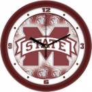 "Mississippi State Bulldogs 12"" Dimension Wall Clock"
