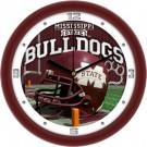 """Mississippi State Bulldogs 12"""" Helmet Wall Clock"""