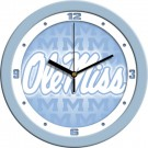 "Mississippi (Ole Miss) Rebels 12"" Blue Wall Clock"