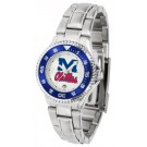 Mississippi (Ole Miss) Rebels Competitor Ladies Watch with Steel Band