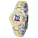 Mississippi (Ole Miss) Rebels Competitor Ladies Watch with Two-Tone Band