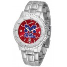 Mississippi (Ole Miss) Rebels Competitor AnoChrome Men's Watch with Steel Band
