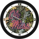 "Mississippi (Ole Miss) Rebels 12"" Camo Wall Clock"