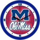 "Mississippi (Ole Miss) Rebels 12"" Dimension Wall Clock"