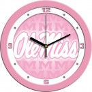 "Mississippi (Ole Miss) Rebels 12"" Pink Wall Clock"