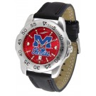 Mississippi (Ole Miss) Rebels Sport AnoChrome Men's Watch with Leather Band