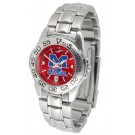 Mississippi (Ole Miss) Rebels Sport AnoChrome Ladies Watch with Steel Band