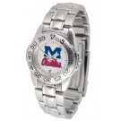 Mississippi (Ole Miss) Rebels Gameday Sport Ladies' Watch with a Metal Band