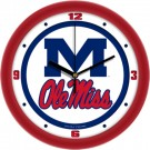 "Mississippi (Ole Miss) Rebels Traditional 12"" Wall Clock"