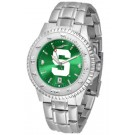 Michigan State Spartans Competitor AnoChrome Men's Watch with Steel Band