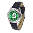 Michigan State Spartans Sport AnoChrome Ladies Watch with Leather Band
