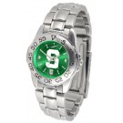 Michigan State Spartans Sport AnoChrome Ladies Watch with Steel Band