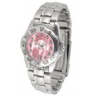 Morehead State Eagles Ladies Sport Watch with Steel Band and Mother of Pearl Dial
