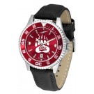 Montana Grizzlies Competitor AnoChrome Men's Watch with Nylon/Leather Band and Colored Bezel