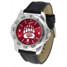 Montana Grizzlies Sport AnoChrome Men's Watch with Leather Band