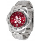 Montana Grizzlies Sport Steel Band Ano-Chrome Men's Watch