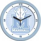 "Marshall Thundering Herd 12"" Blue Wall Clock"