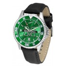 Marshall Thundering Herd Competitor AnoChrome Men's Watch with Nylon/Leather Band and Colored Bezel